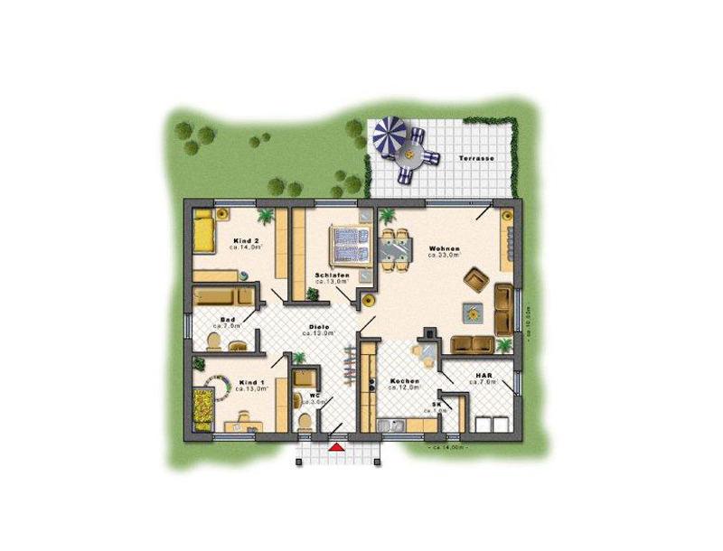 bungalow 80 qm grundriss beste bildideen zu hause design. Black Bedroom Furniture Sets. Home Design Ideas