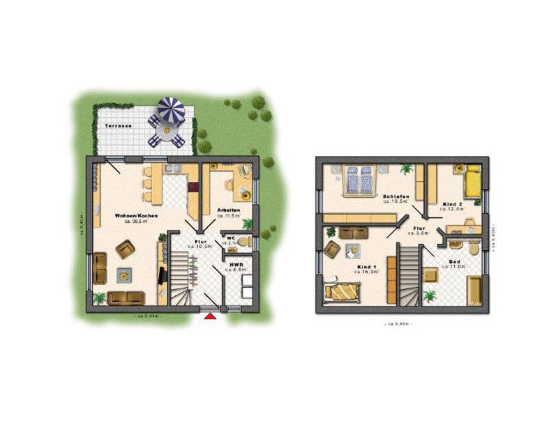 Stadtvilla Hausbau in und um Berlin - EDAS Massivhaus